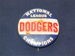 1949 Brooklyn Dodgers NL Champions Pin