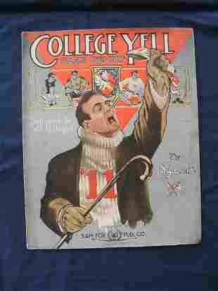 College Yell 1911 Featuring Different Schools