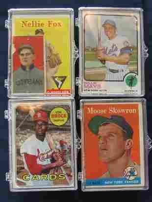 (4) Card Lots Mix of Rookies, Stars, Vintage Card