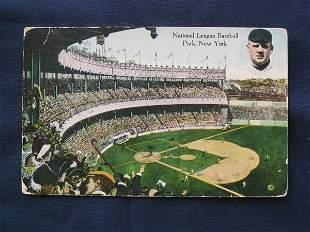 Polo Grounds 1914 Post Card w/ John McGraw