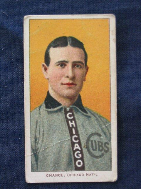 1011: Frank Chance 1909 T206 Yellow Portrait Card