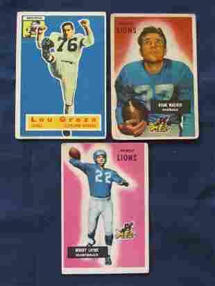 (3) Bowman 1950's Football HOF Cards