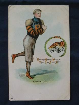 Princeton Tigers 1905 Football Player Post Card w
