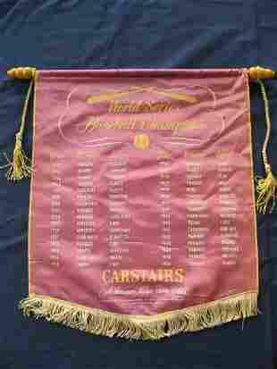 1951 Carstairs World Series Baseball Banner