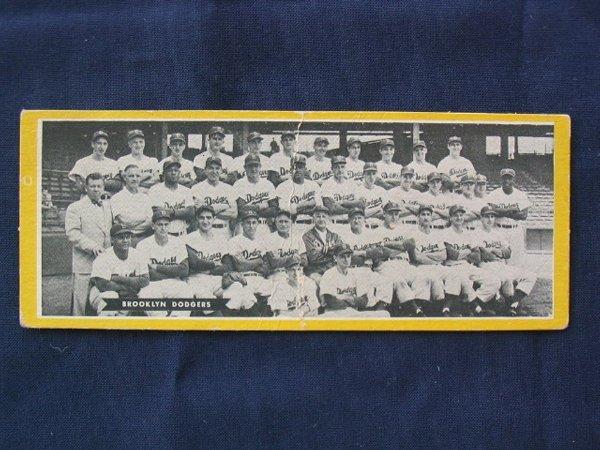 1016: Brooklyn Dodgers 1951 Topps Team Card