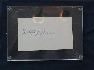 Lefty Grove Autograph on 3 x 5 Card