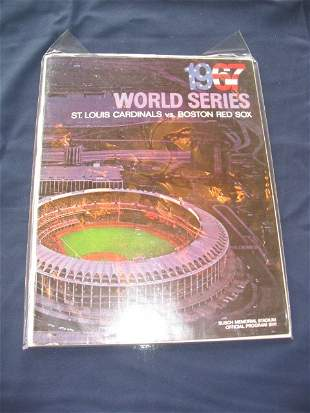Cardinal vs. Red Sox 1967 World Series Program