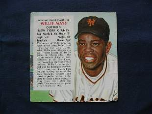 Willie Mays 1954 Red Man Tobacco Card