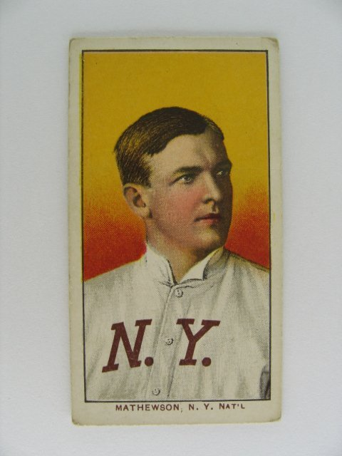 1: Christy Mathewson T206 Tobacco Card