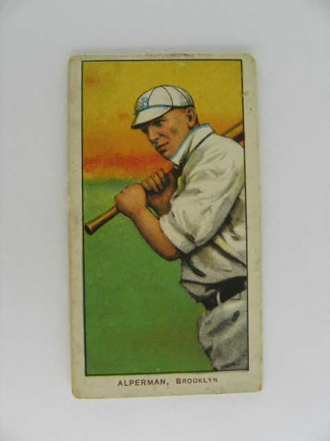 10: Whitey Alperman T206 Tobacco Card