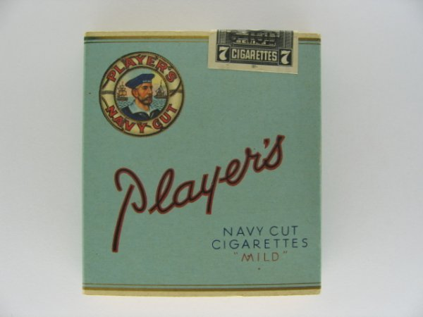 24: Player's Navy Cut Cigarettes Tobacco Box