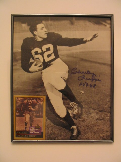 1004: Charley Trippi Authentic Autographed Framed Pictu