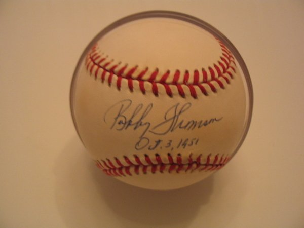 1008: Bobby Thomson Authentic Autographed Baseball