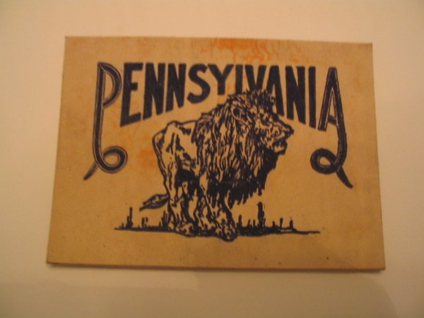 1016: Penn State University Large Tobacco Leather c. 19