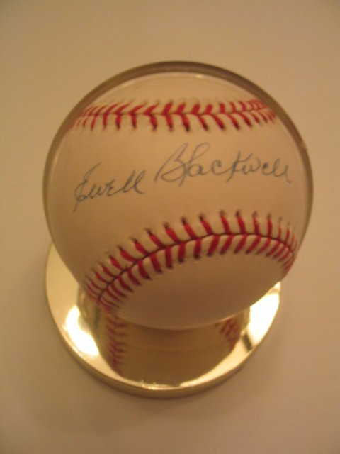 1018: Ewell Blackwell Authentic Autographed Baseball