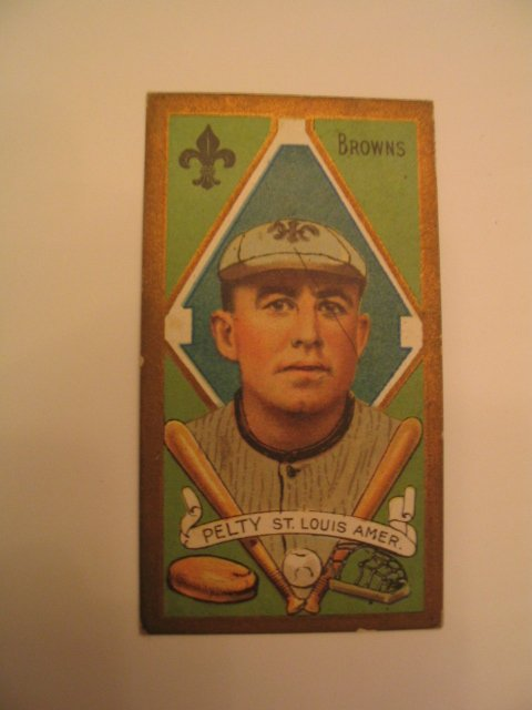 1019: Barney Pelty 1911 T205 Piedmont Tobacco Card