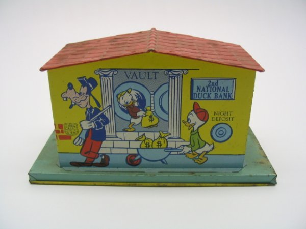 2001: J. Chein Tin Litho Disney Donald Duck Bank