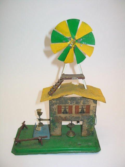 2002: Tin Litho Toy Windmill w/Paddlewheel