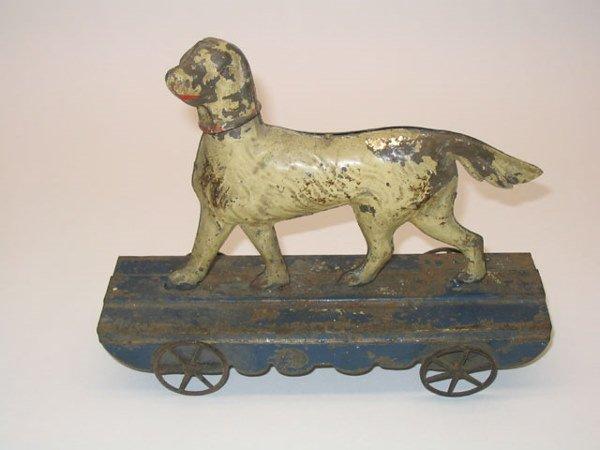 2004: Tin Litho Setter Dog Platform Pull Toy