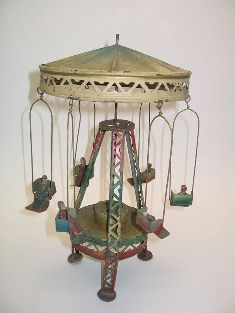 2017: Tin Litho Wind-Up High Flying Carnival Swing