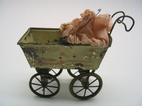 2018: Tin Baby Carriage Toy w/Canopy