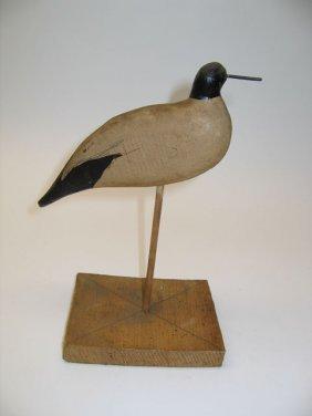 Shore Bird Wooden Decoy
