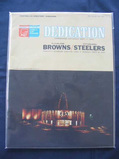 12: 1963 Football Hall of Fame Dedication Program Cleve