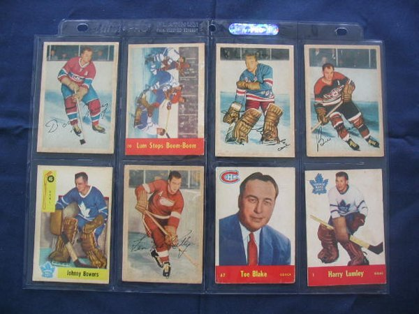 13: (8) Vintage 1950's Hockey Player Cards