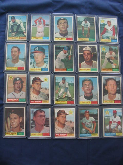 17: (20) 1961 Topps Baseball Cards in Nice Condition