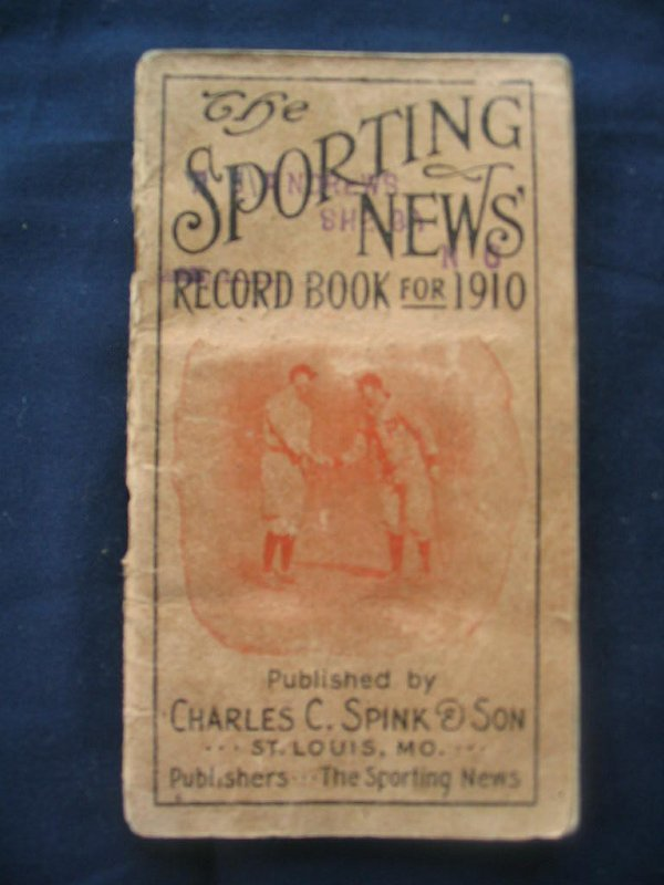 311: Sporting News Record Book for 1910 Ty Cobb & Honus
