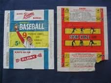 331: Vintage Baseball Card Wrappers Bowman Gum & Sports