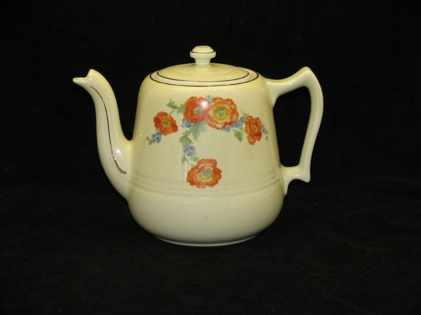 7: Halls Orange Poppy Teapot