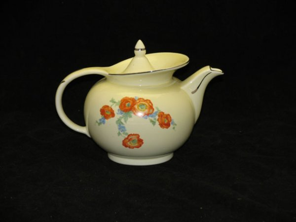 21: Halls Orange Poppy Windshield Teapot