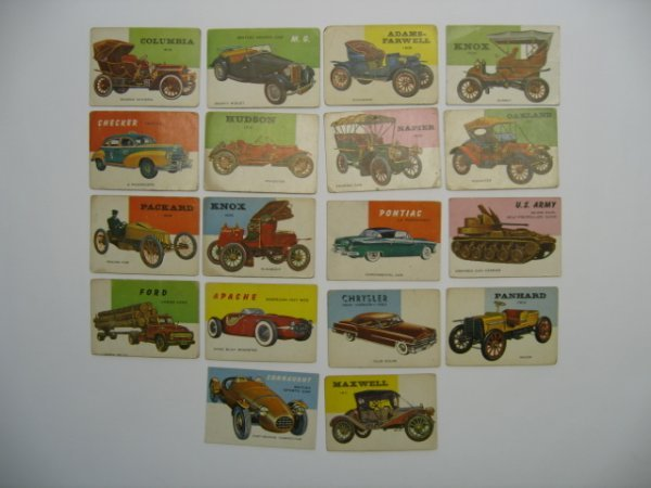 1010: World on Wheels 1953 Topps Card Grouping of 18