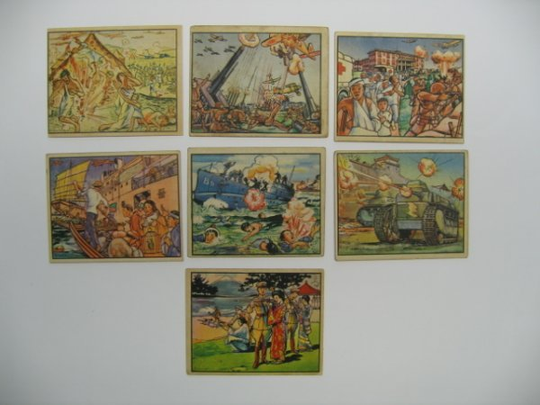 1012: Horrors of War 1938 Gum Inc. Cards (7)