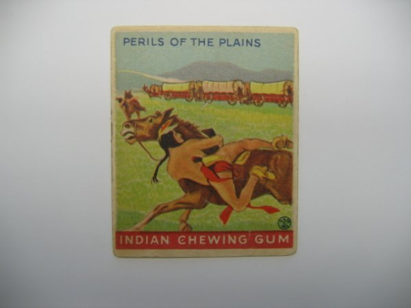 1014: Perils of the Plains 1931 Goudey Indian Gum Card