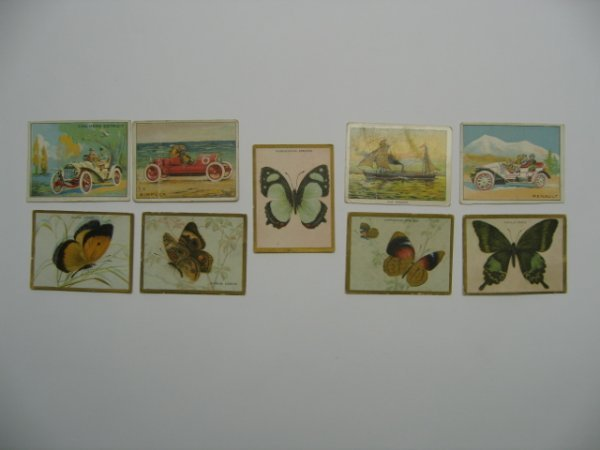 1015: Turkey Red Tobacco Card Grouping of (9) c. 1911