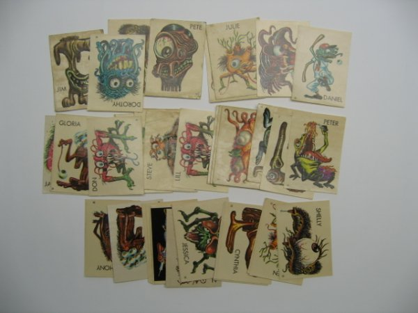 1022: Ugly Stickers c. 1960's/1970's Topps Issue Sticke