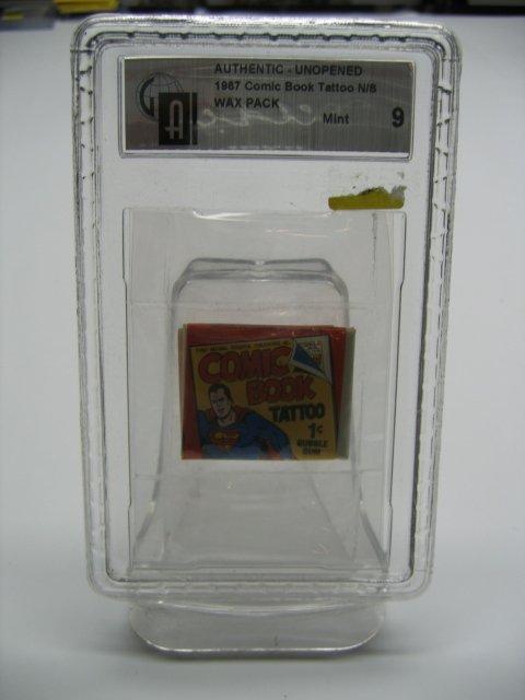 1080: SUPERMAN 1967 Comic Book Tattoo Wax Pack