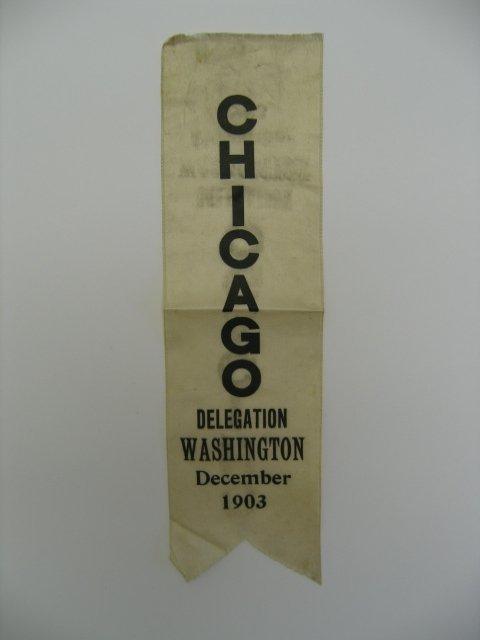3004: Ribbon - Chicago Delegation - Washington - Dec. 1