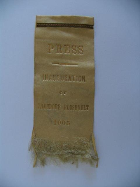 3005: Theodore Roosevelt Inauguration Press Ribbon - 19