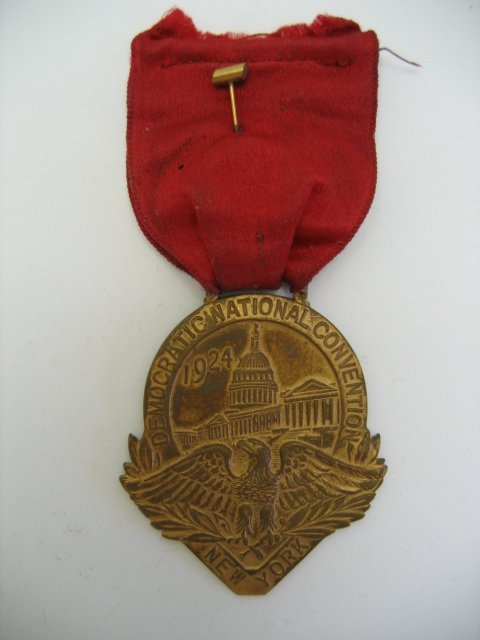 3080: 1924 Democratic National Convention Medal