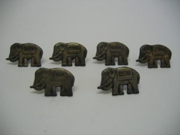 3166: G.O.P. Elephant Cufflinks (6)
