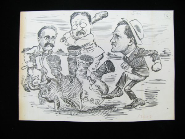 3341: C.K. Berryman Original Cartoon - Roosevelt-Elepha