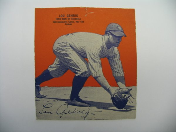4001: Lou Gehrig New York Yankees 1935 Wheaties Card