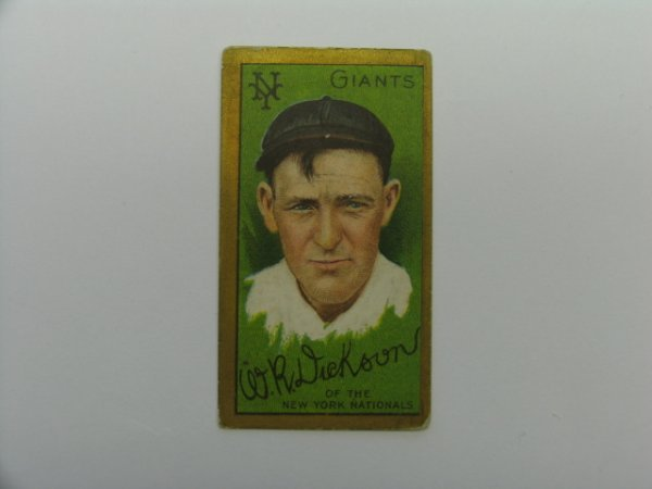 4003: W.R. Dickson 1911 T205 Gold Border Tobacco Card