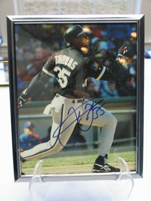 4005: Frank Thomas Autographed Framed Picture