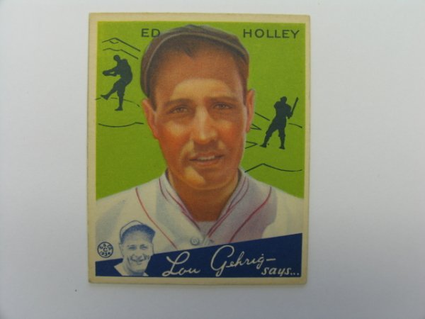 4007: Ed Holley Phillies 1934 Goudey Card #55