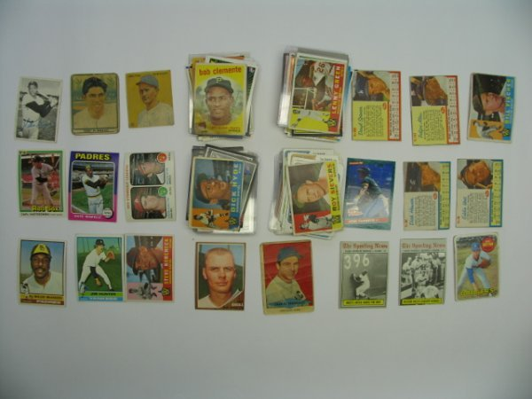4008: Baseball Cards Lot 200+ Vintage, HOF'er, Star & R