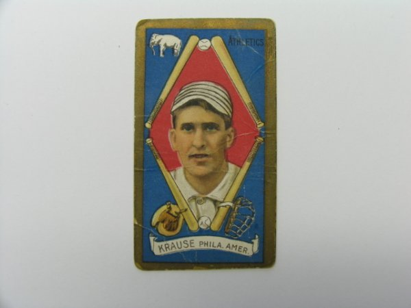 4009: Harry Krause 1911 T205 Gold Border Tobacco Card